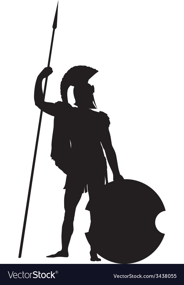 Spartan Warriors Theme vector image