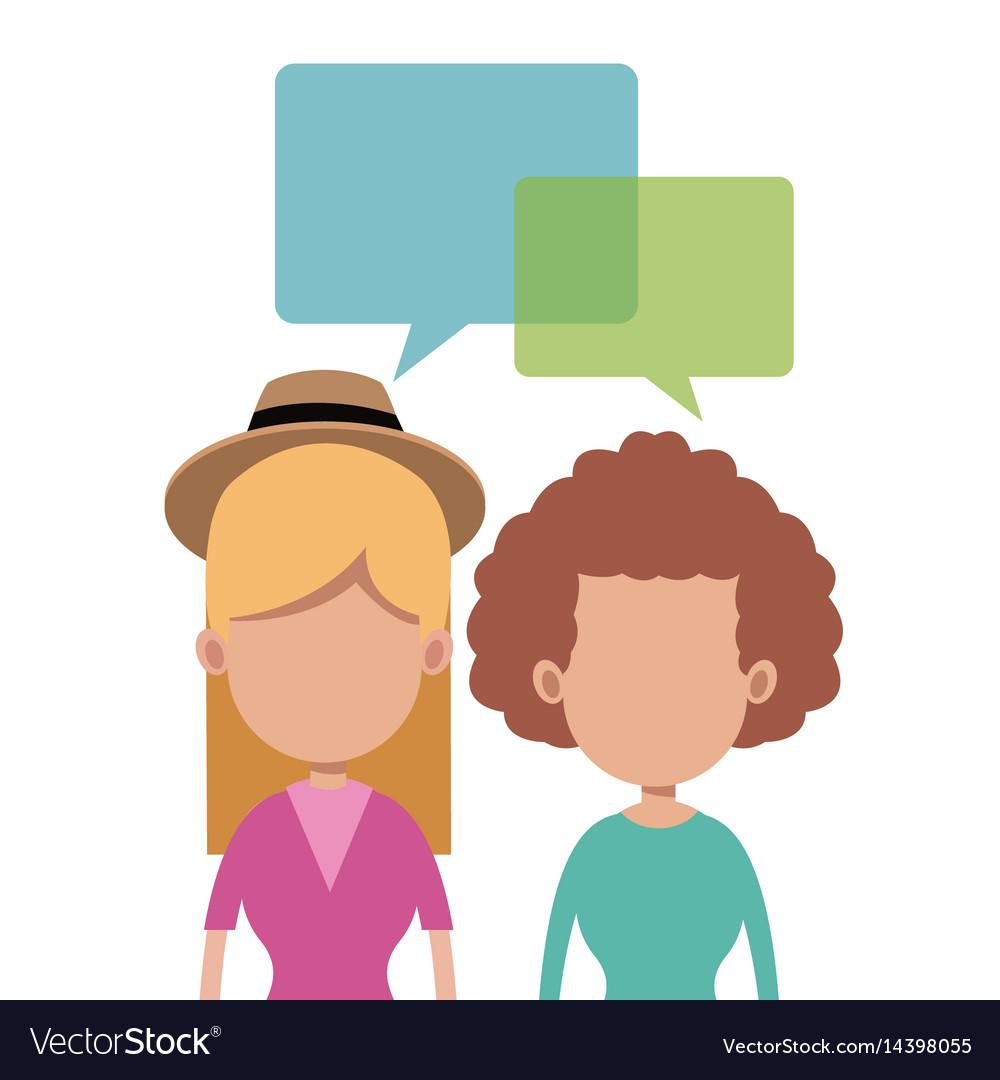 Women together talking image vector image