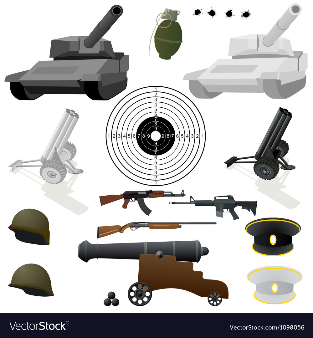 The military set vector image