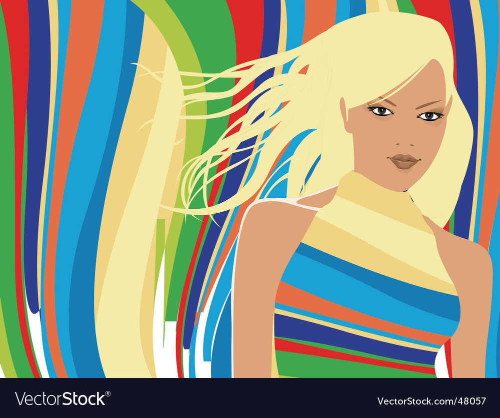 Party girl vector image
