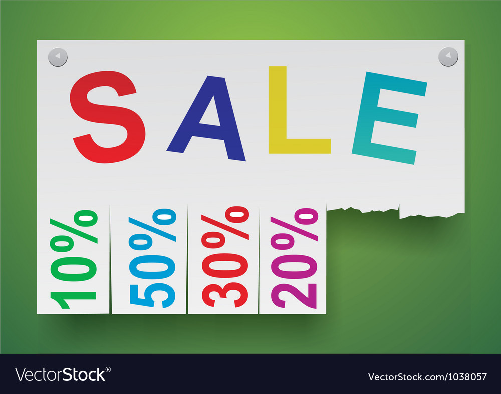 Word sale in the form of stickers vector image
