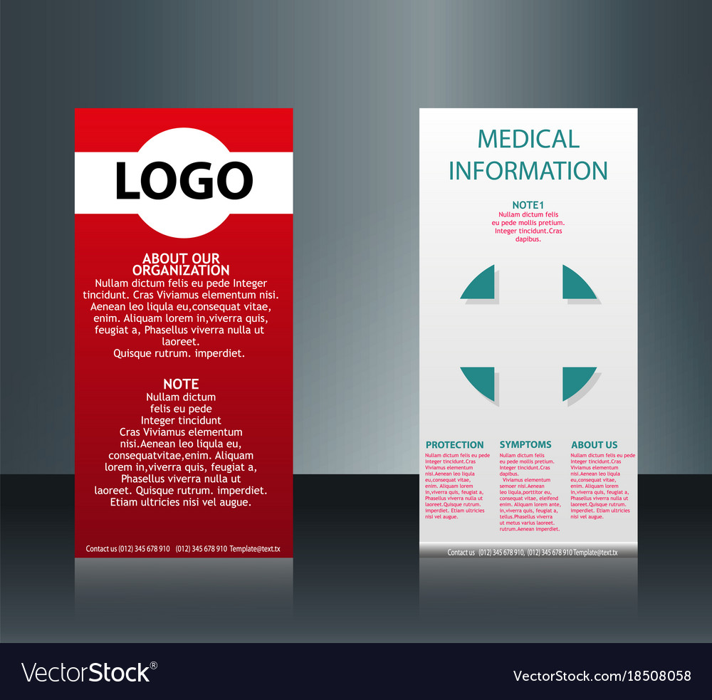 Collection of 2 abstract medical business cards vector image colourmoves