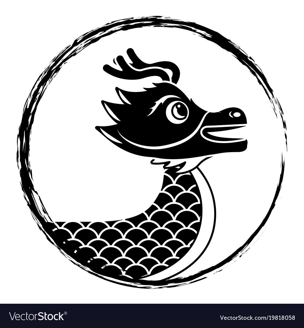 Drawing black chinese dragon symbol royalty free vector drawing black chinese dragon symbol vector image biocorpaavc