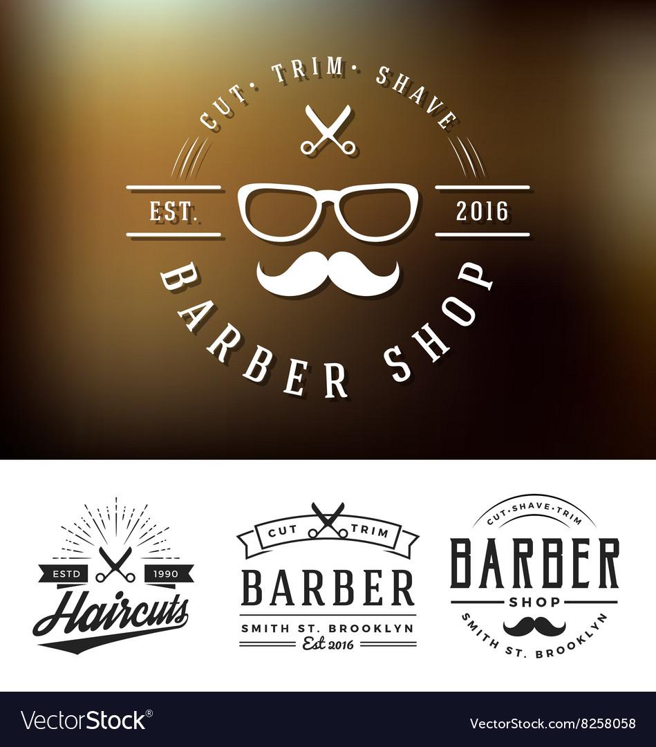 Set of barber shop logo and decorative vector image. Set of barber shop logo and decorative Royalty Free Vector