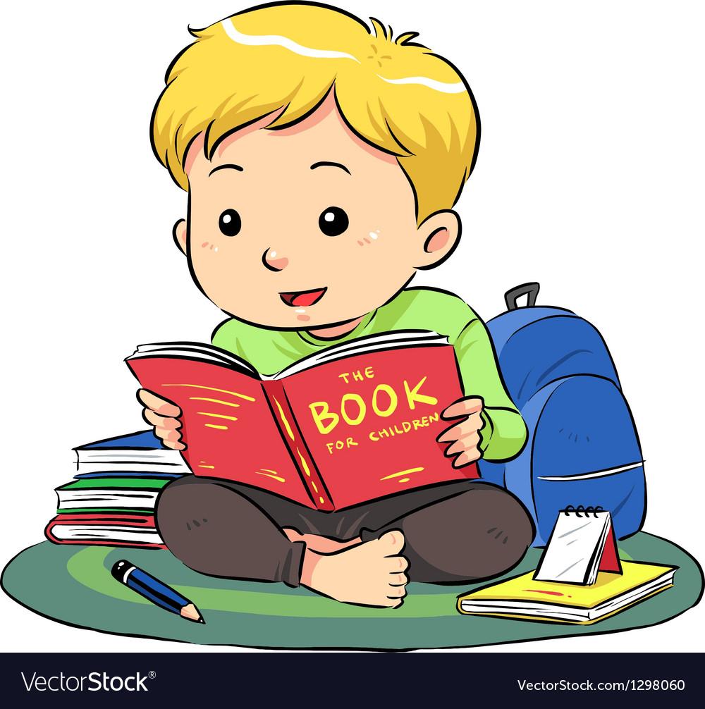 Reading A Book vector image