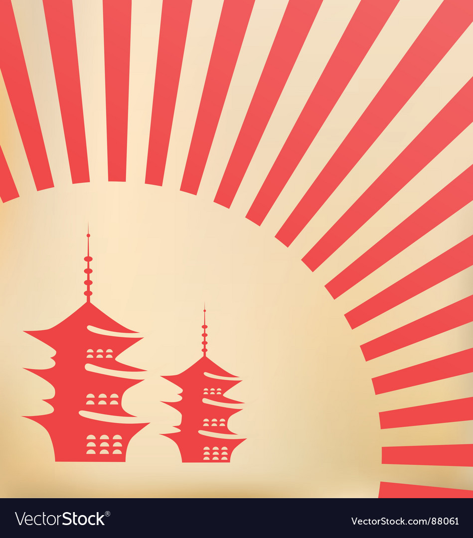 Japanese background vector image