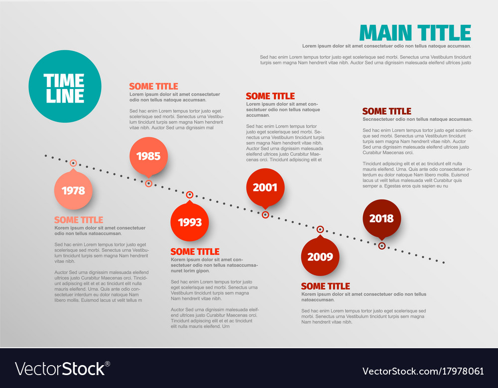 Simple Timeline Template Royalty Free Vector Image