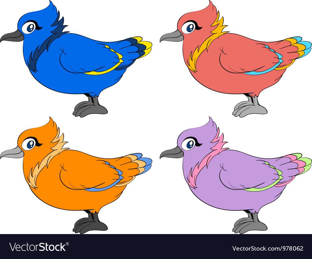 colour birds royalty free vector image vectorstock