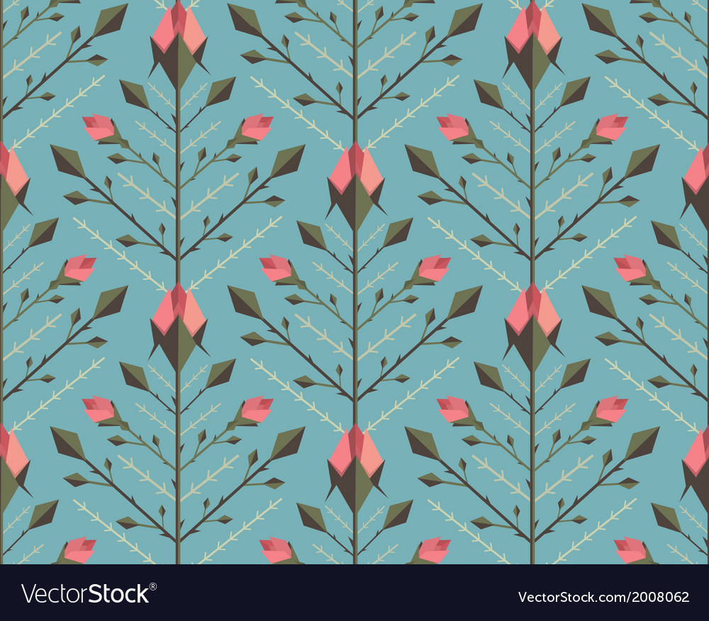 Graphic Roses Pattern Background vector image