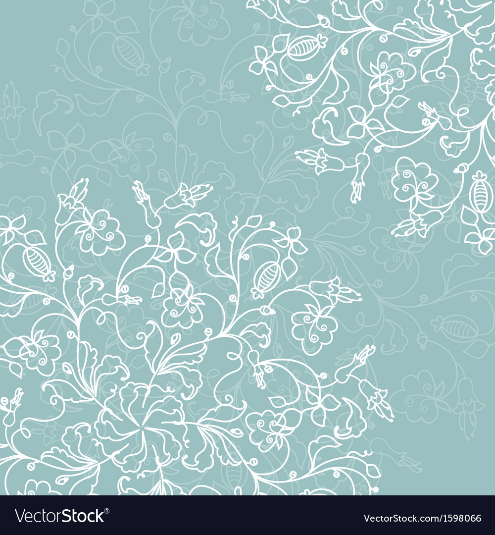 Abstract decoration with ornate detailed ornament vector image