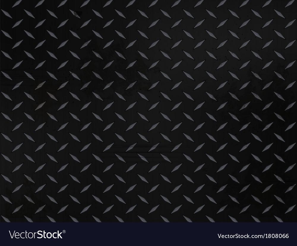 Metallic diamond plate background vector image