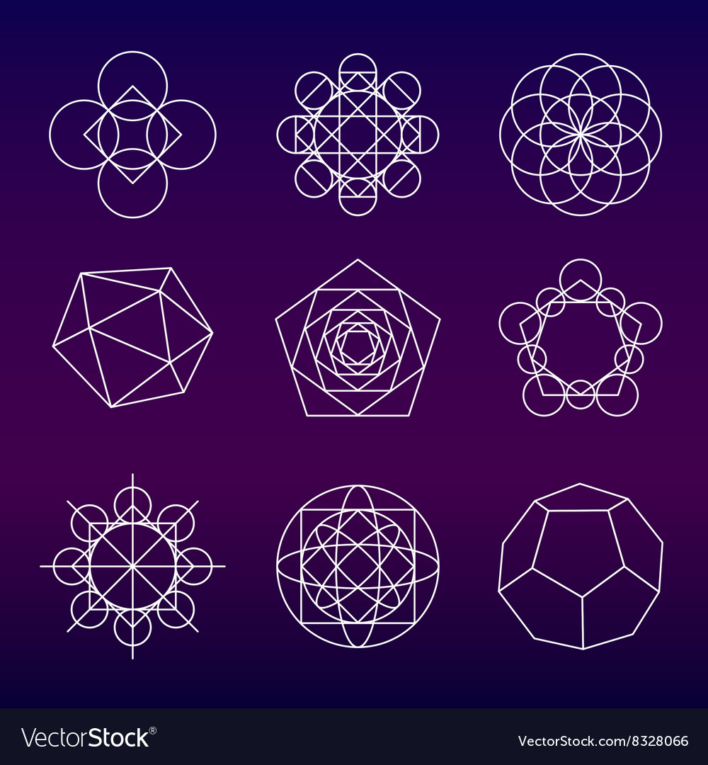 Sacred geometry symbols set royalty free vector image sacred geometry symbols set vector image buycottarizona