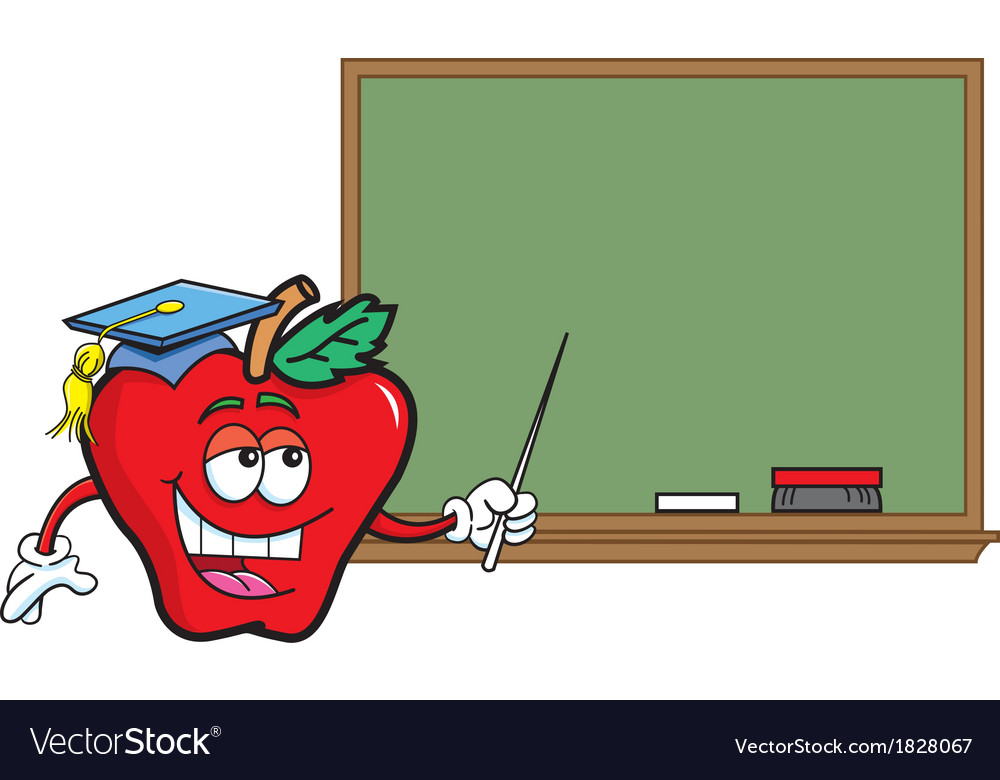 Cartoon Teacher Apple vector image