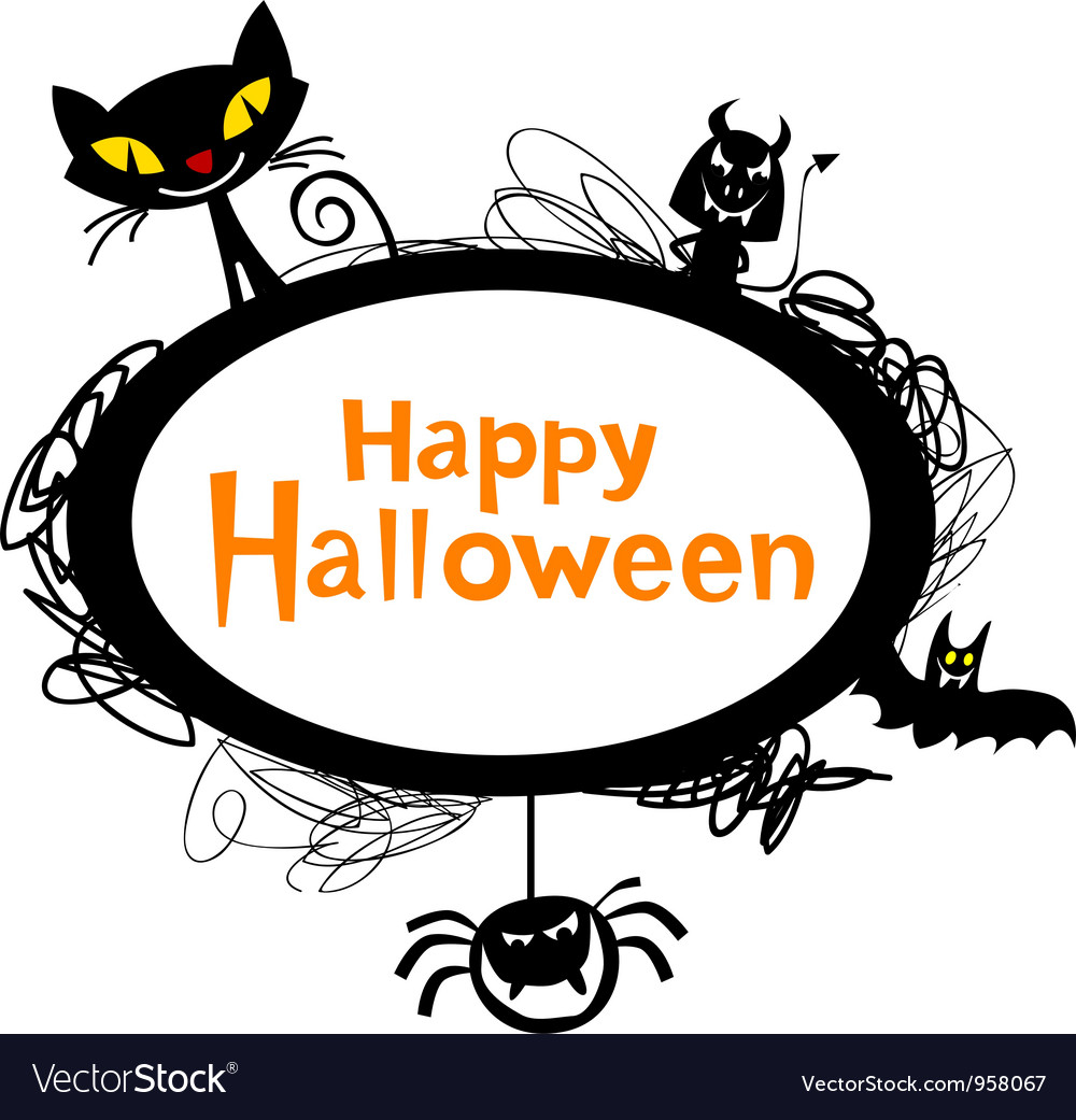 halloween cartoons royalty free vector image vectorstock