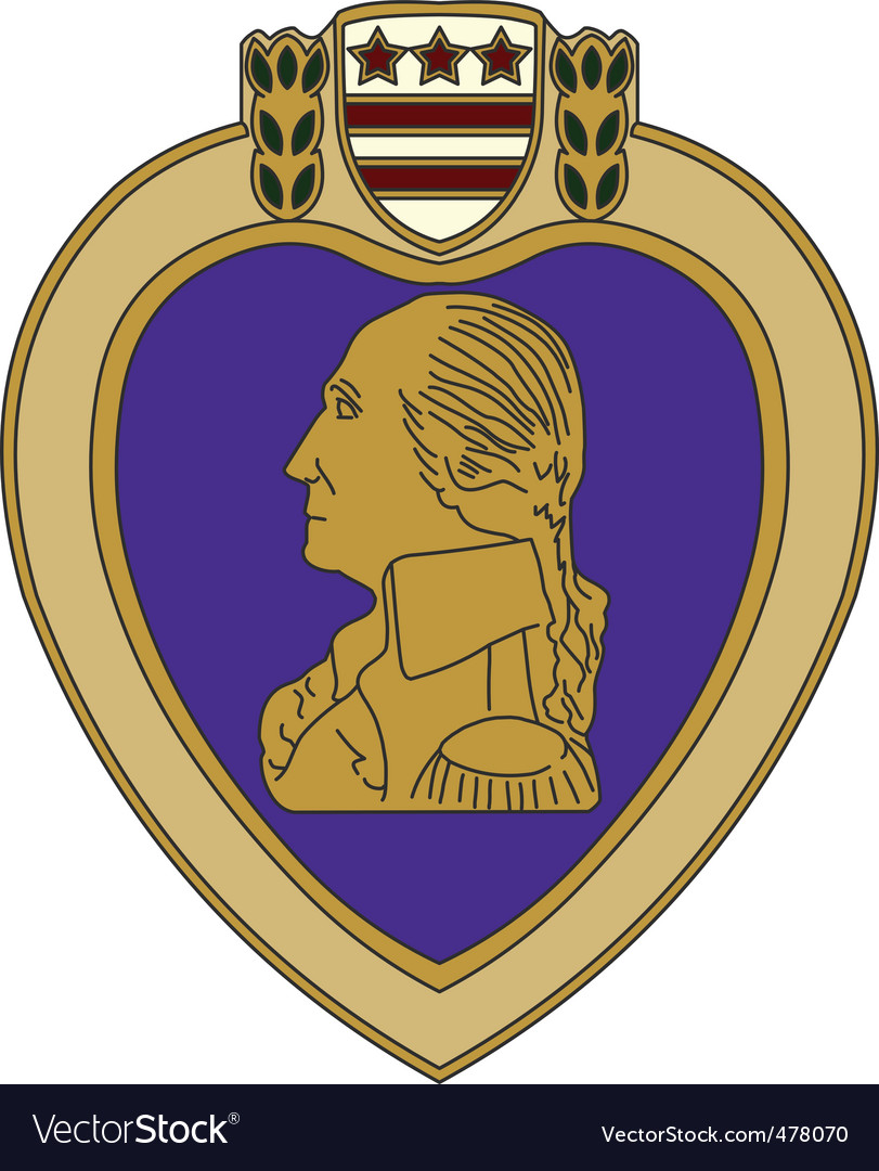 Purple heart war medal vector image