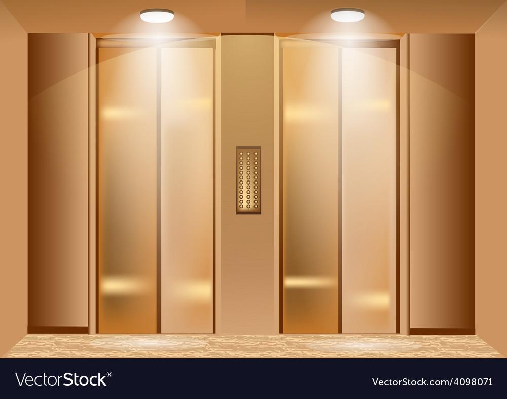 Elevator doors vector image & Elevator doors Royalty Free Vector Image - VectorStock