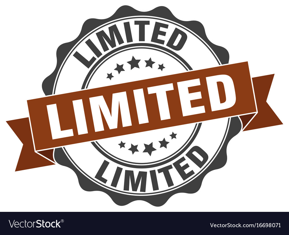 Limited stamp sign seal vector image