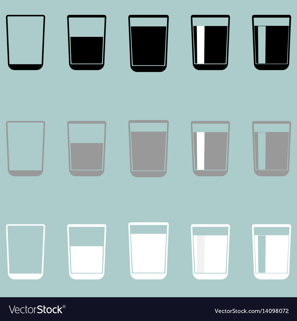 Glass cup riser or thimble icon glass cup vector image