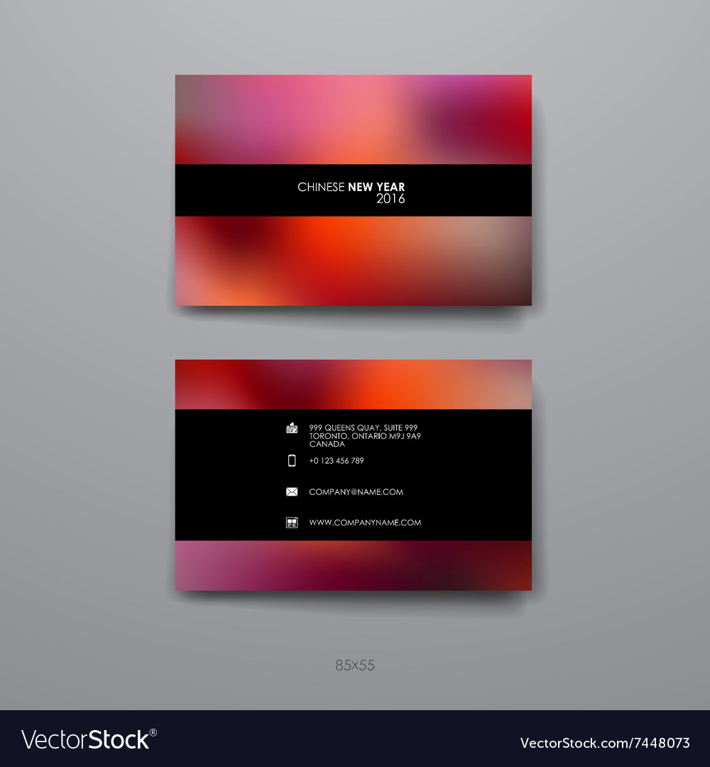 Set of design business card template in chinese vector image colourmoves