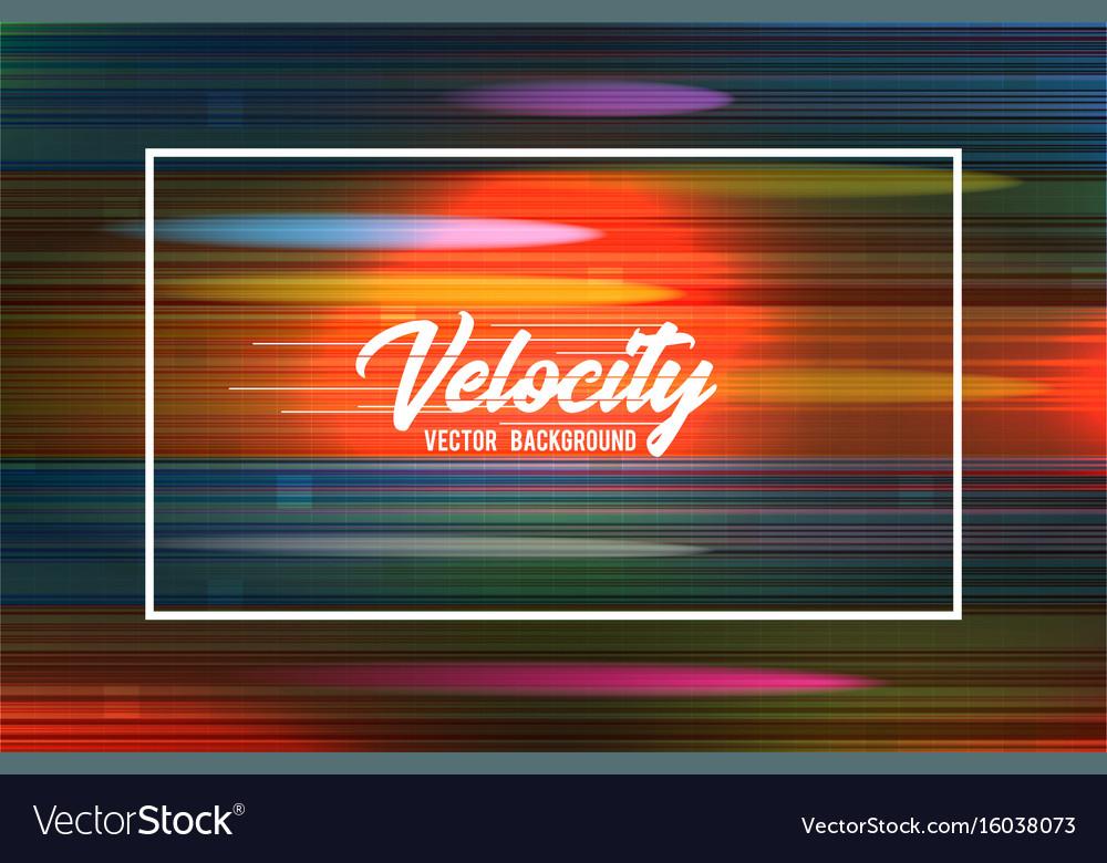 Velocity background 09 speed movement vector image