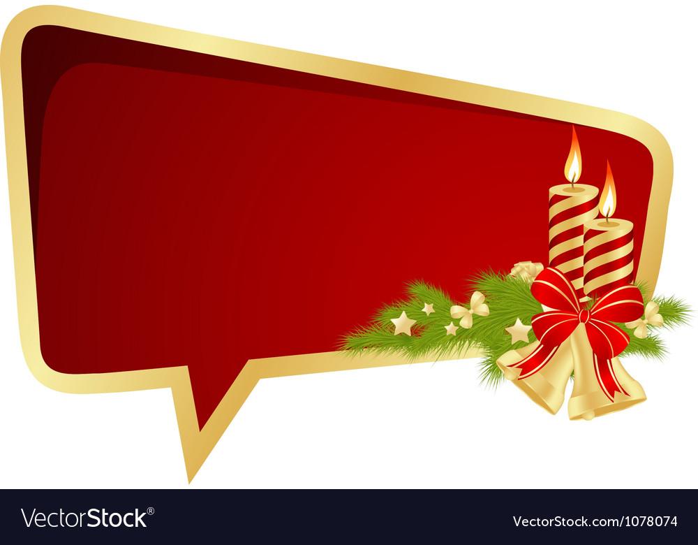 Christmas bubble vector image