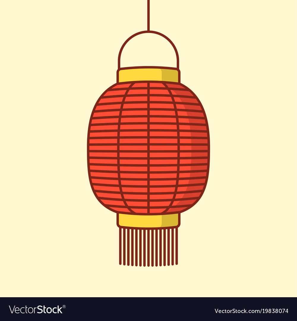 Lantern Icon Chinese Or Japanese Red Vector Image