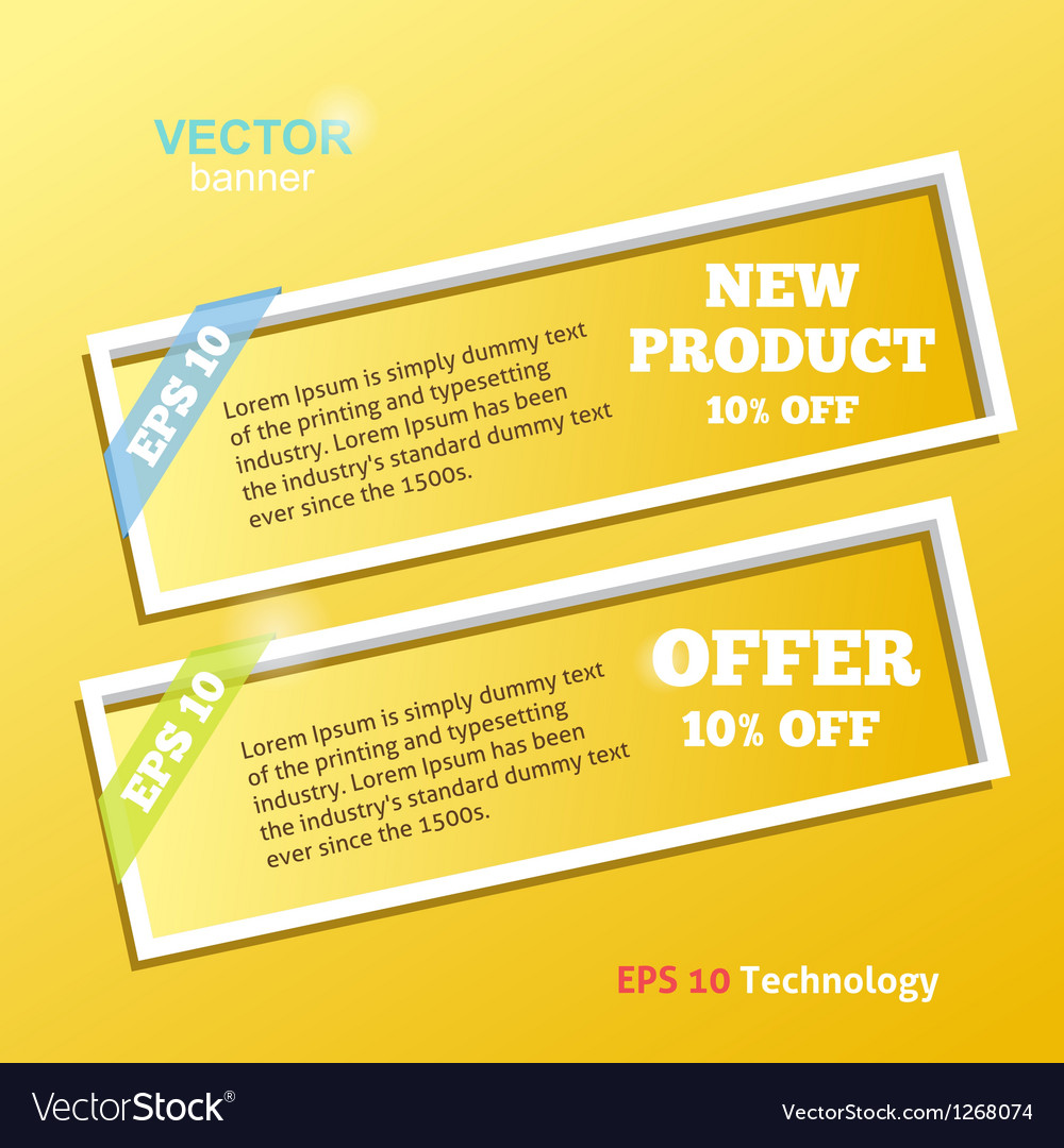 Two White Banners vector image