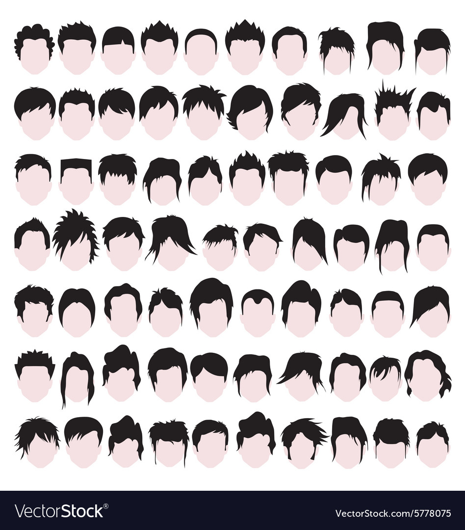 Male hair styles vector image