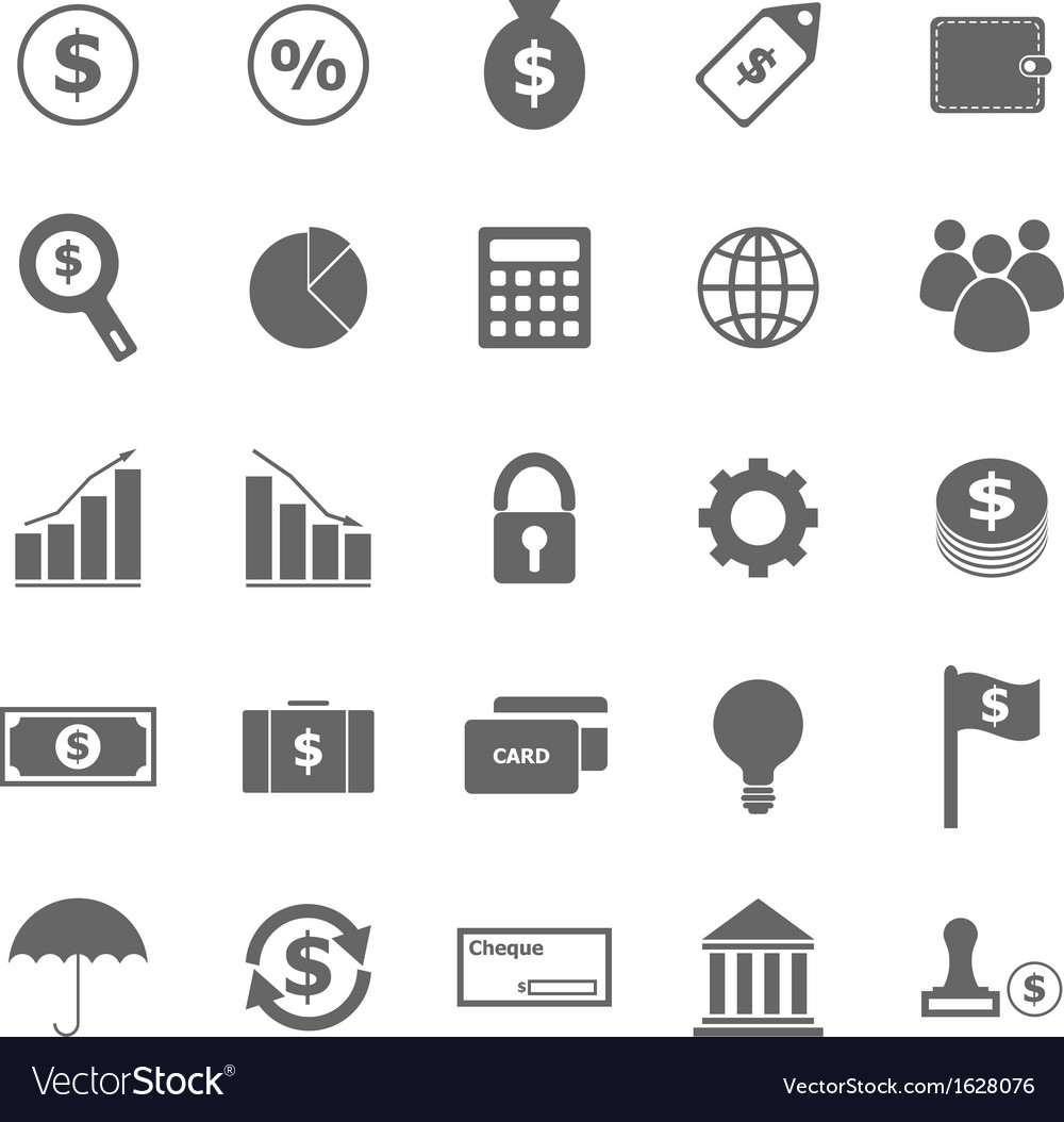 Finance icons on white background vector image