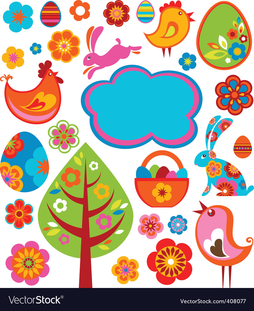 Easter graphics vector image