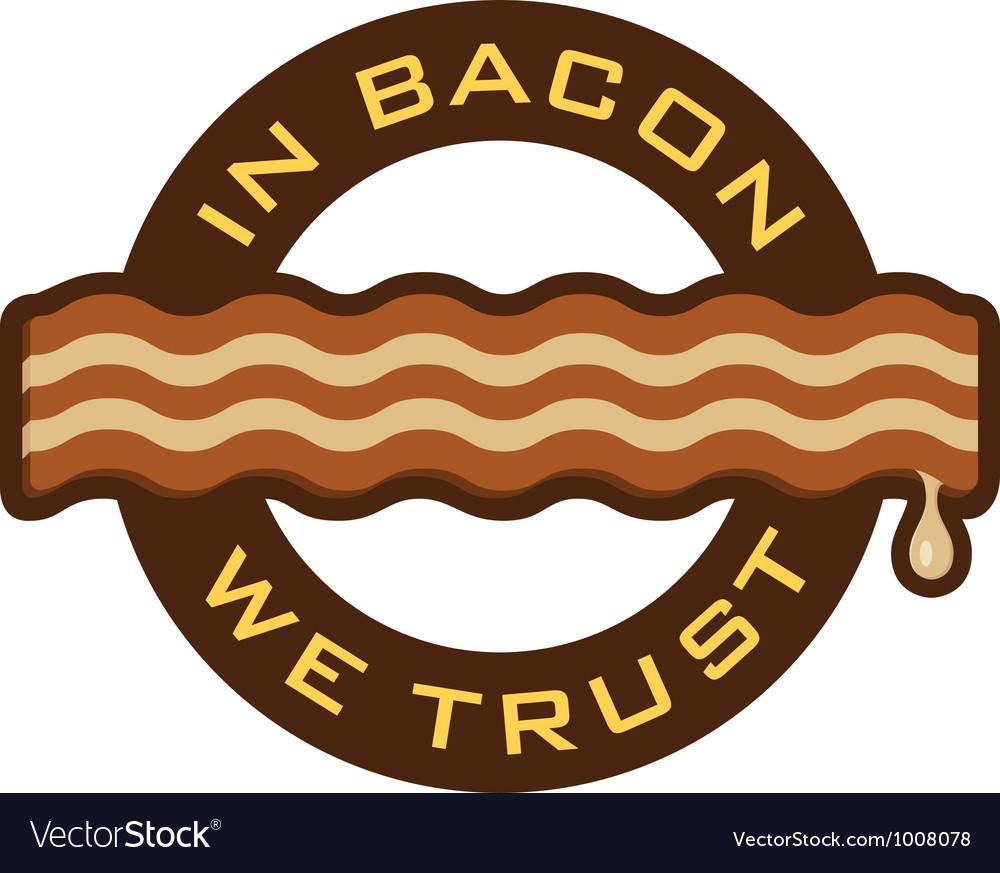 Bacon Symbol vector image