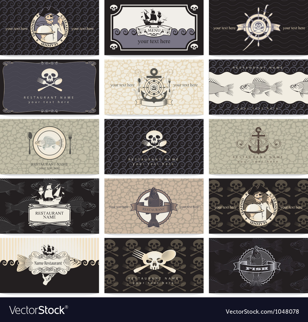 Pirate cards Vector Image