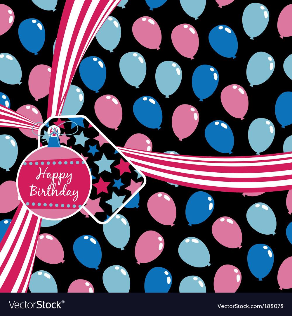 Birthday ribbon vector image