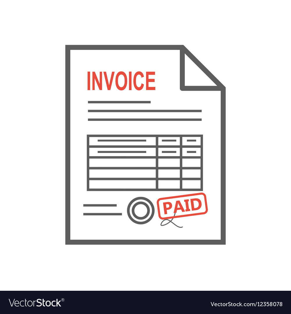 Invoice icon in the flat style isolated from the vector image