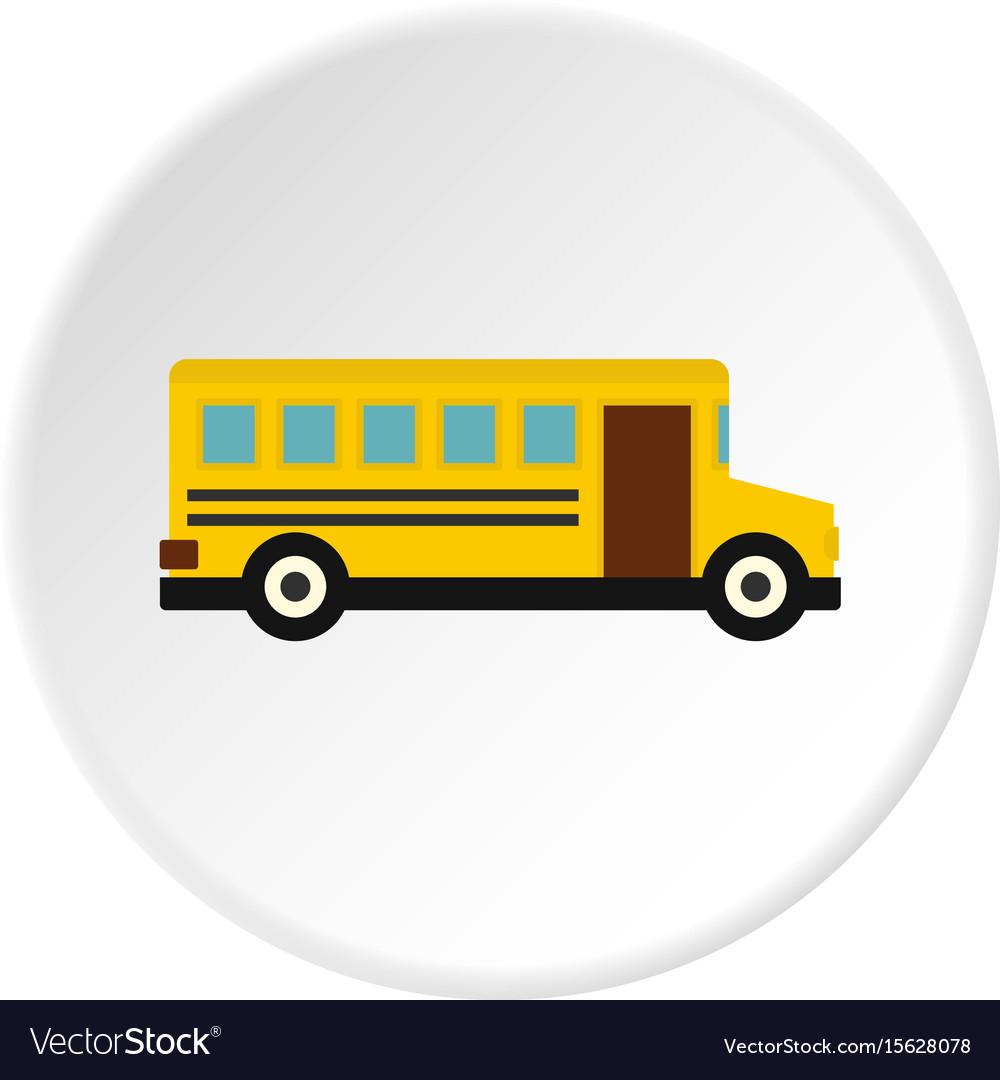 School bus icon circle vector image