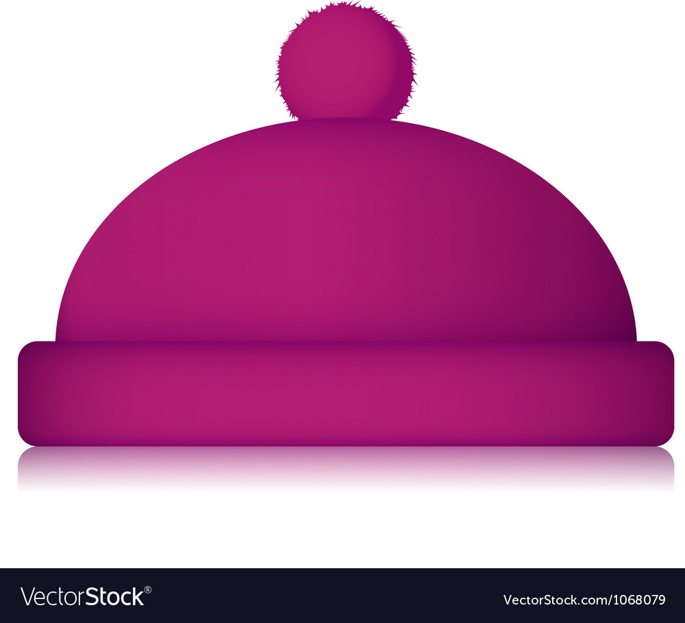 Isolated winter hat on white background vector image