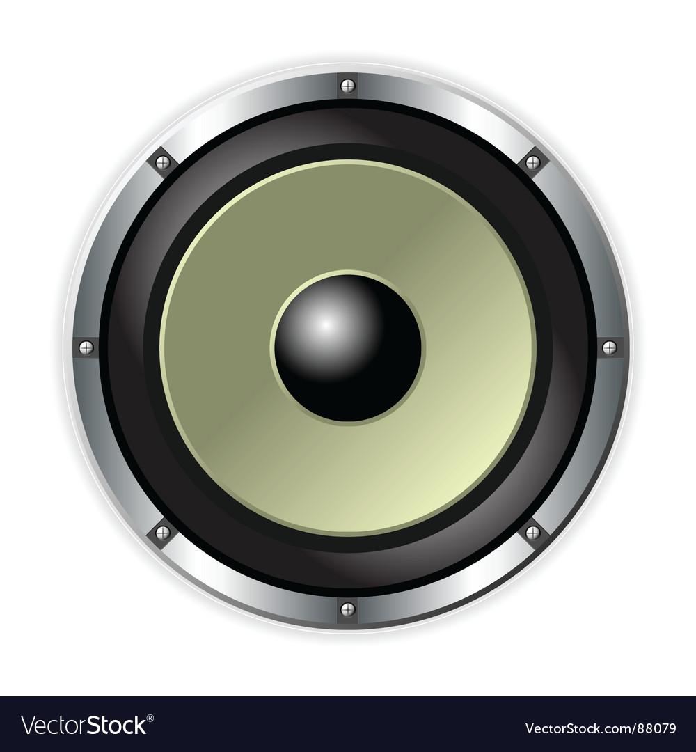 Speaker over white vector image
