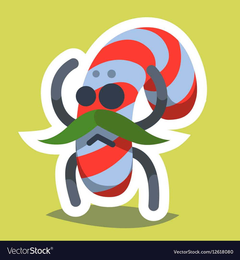Emoticon Icon Happy New Year Candy vector image