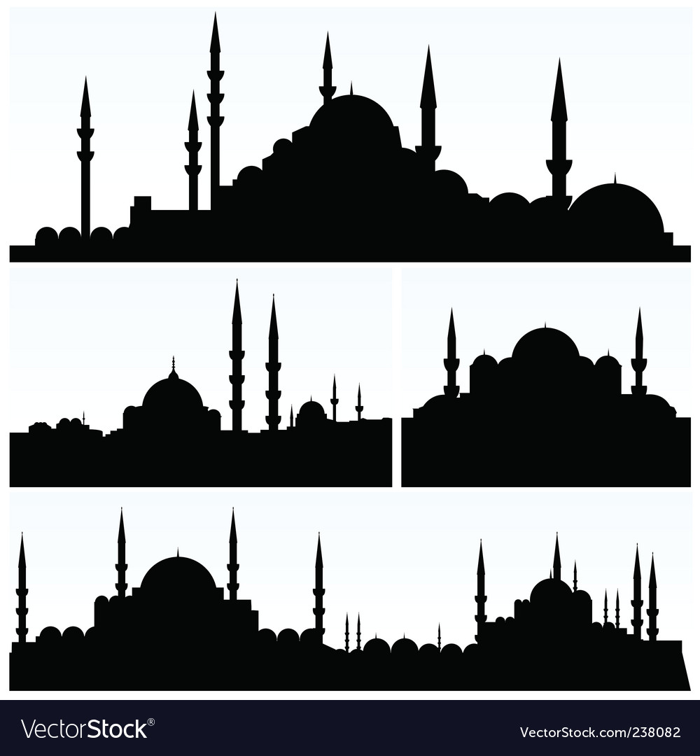 Arabesque cityscapes vector image