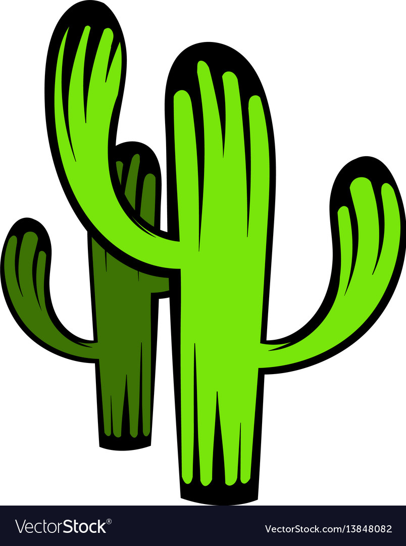 Cactus icon icon cartoon vector image