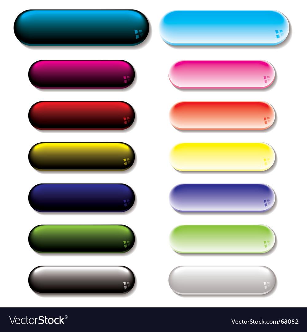 Gel glow buttons vector image