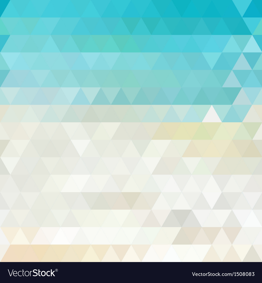 Sunny abstract geometric background vector image