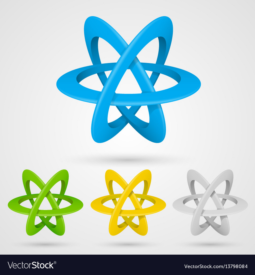 Atom set symbol on a white background vector image