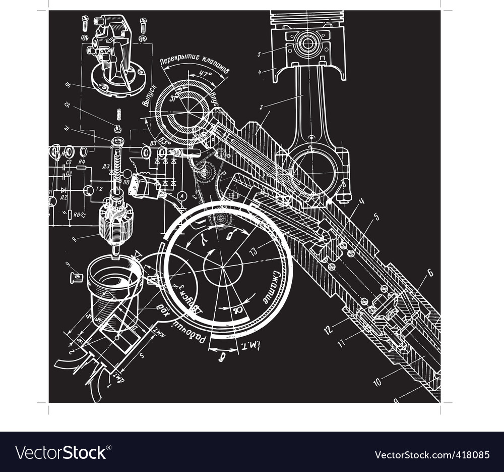 Technical drawingxa vector image