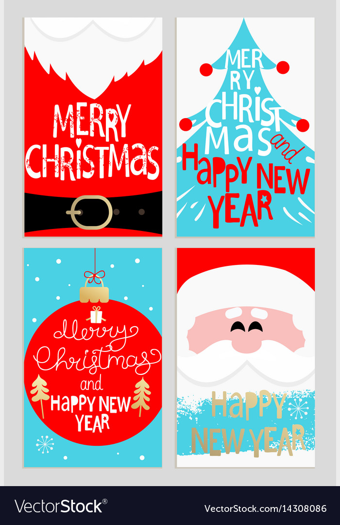 Santas message banners vector image