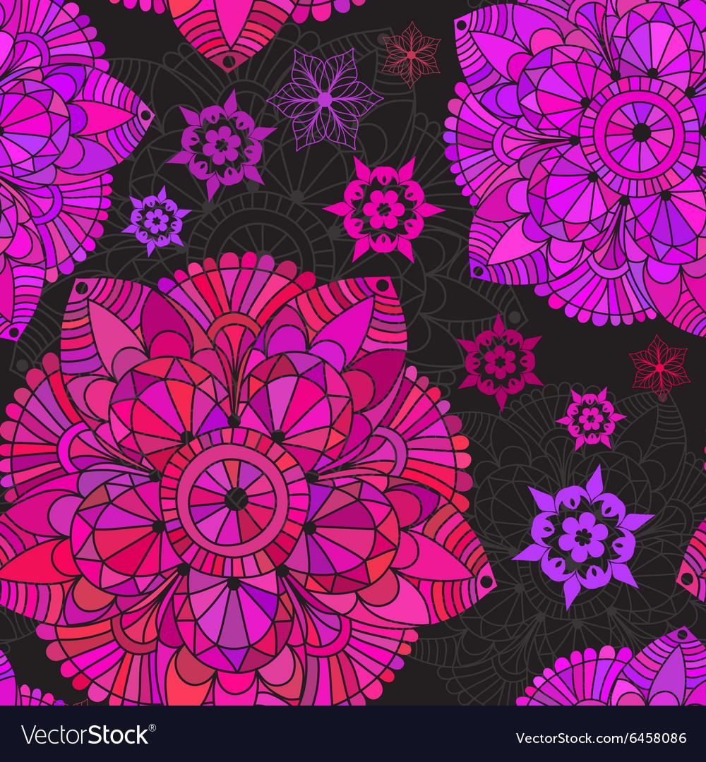 Vintage seamless black pattern vector image