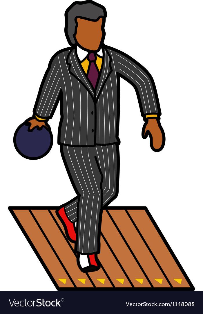 Man bowling vector image