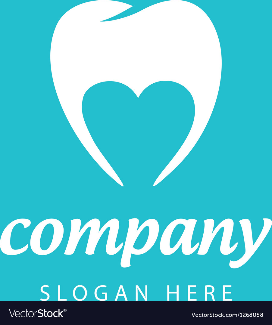 Logo dental company vector image