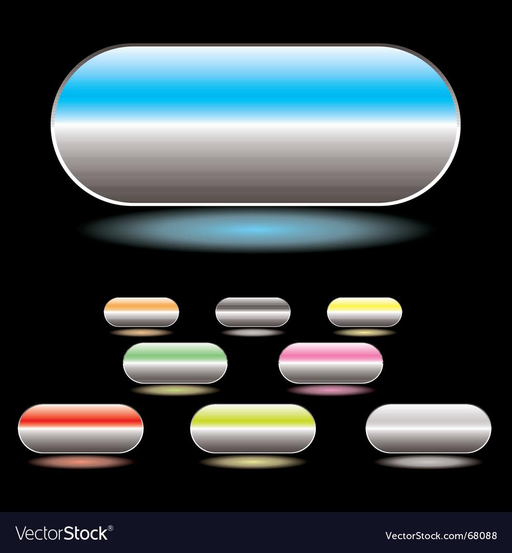 Split button white vector image