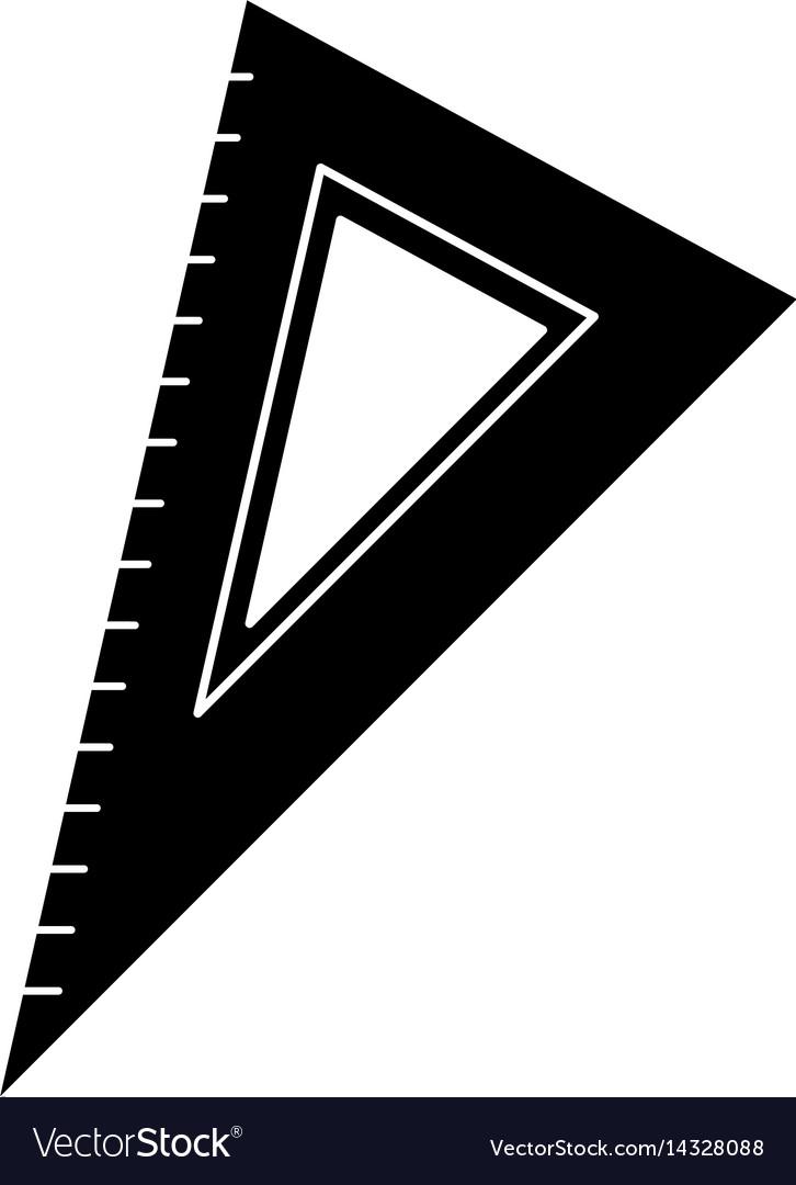 Triangle ruler utensil pictogram vector image